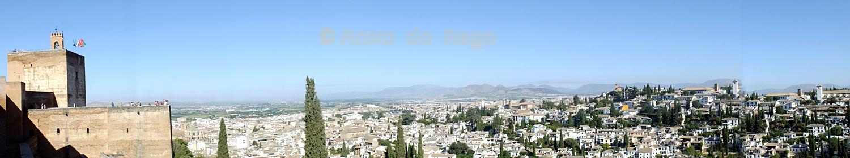 Panorámica desde La Alhambra de Granada