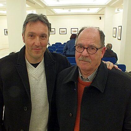 Con Carlos Zanón en Granada