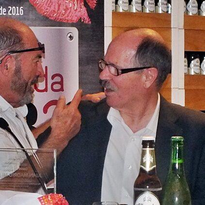 Con juan Madrid en Granada