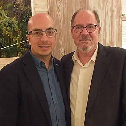Con Jorge Volpi en Guadalajara